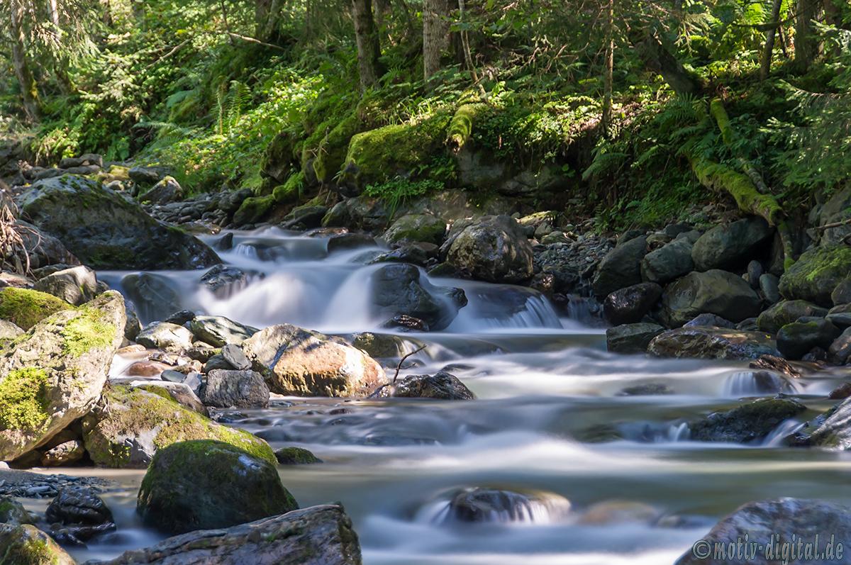 Langzeitbelichtung: Wasserläufe